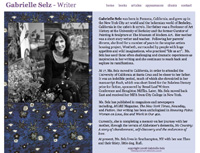 gabrielle selz home page