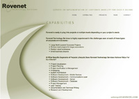 Rovenet Technologies capabilities page